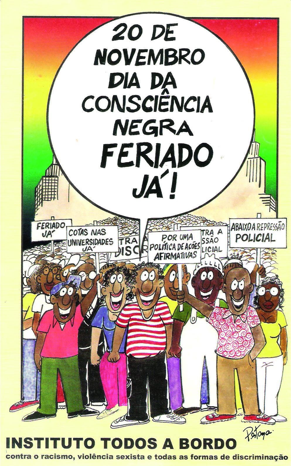 20 de Novembro dia da consciência negra, feriado já | Mauricio Pestana